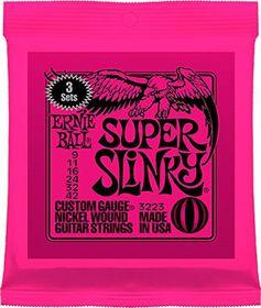 Ernie Ball 3223 Super Slinky Nickel Wound Sets - 3 Pack
