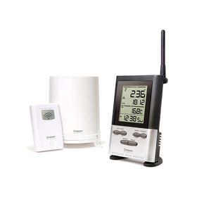 Oregon RGR126N Wireless Rain Gauge with Outdoor Temperature and 9 Day Memory
