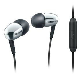 Philips SHE3905 In-Ear Headphones with Mic - Silver