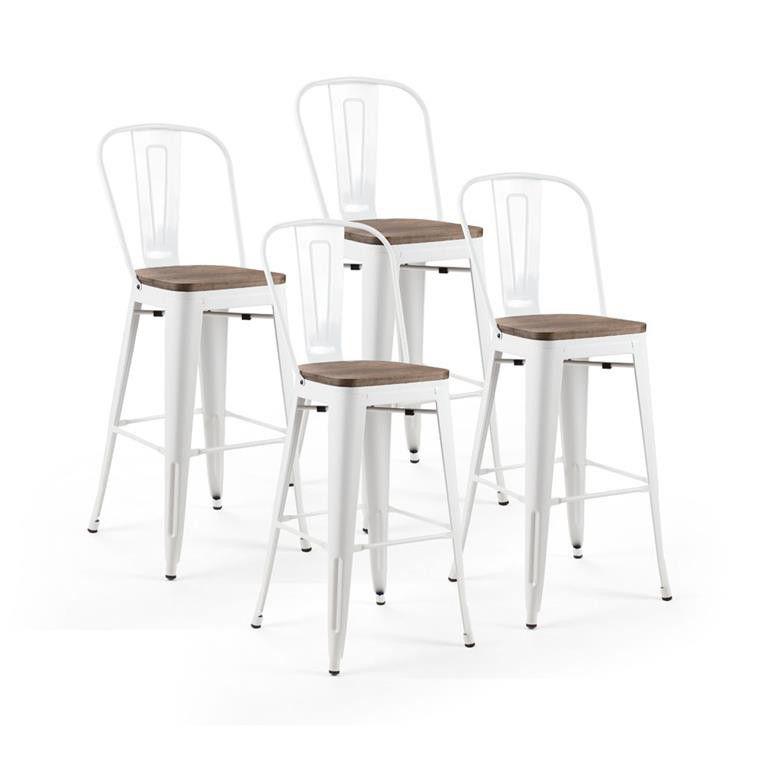 Cielo Conrad Metal Bar Chair   White (Set Of 4). Loading Zoom