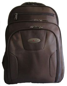 Power Land Laptop Backpack - Brown