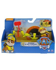 Paw Patrol Rescue Action Pack With Friends - Rubble & Sea Turtles