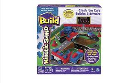 Kinetic Sand Build Crash 'Em Cars