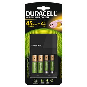 Duracell CEF14 45min Charger Bundle