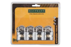 Kaufmann - 4 Piece 40mm Steel Lock Set