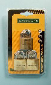 Kaufmann - 3 Piece 30mm Brass Lock Set