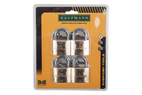 Kaufmann - 4 Piece 50mm Brass Lock Set