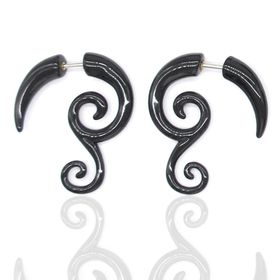 Xcalibur Stainless Steel Decorative Expander Style Earring - TXE036