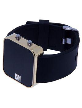 Always-Push Dawn Black & Gold Unisex Watch - Chunky