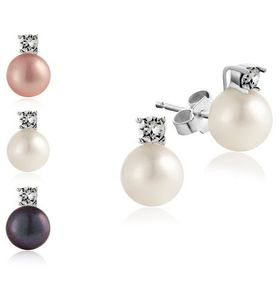 Kyoto Pearl Set of Three Pearl Stud Earrings with with  Swarovski Elements
