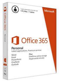 Office 365 Personal  - Medialess - 1 Yr Subscr
