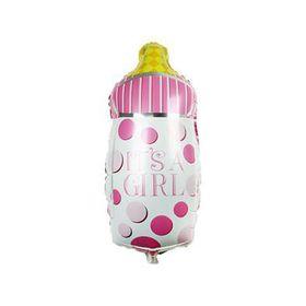 Foil Bottle Balloon - Baby Girl