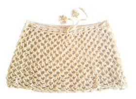 Moo Chick Crochet Swimwear Skirt in Cream