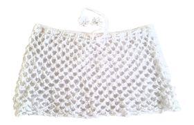 Moo Chick Crochet Swimwear Skirt in White