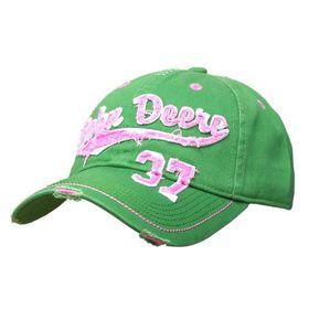 john deere ladies cap green & pink