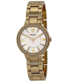 Fossil Women's Virginia Gold-Tone Stainless Steel Watch with Link Bracelet ES3283 (Parallel Import)