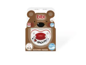 Bibi - 0-6m Silicone Soother - I love Mama