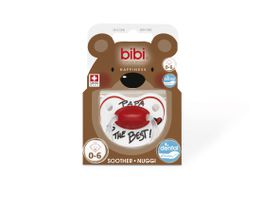 Bibi - 0-6m Silicone Soother - Papa Is The Best