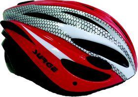 Surge Bolt Helmet - Red/Silver