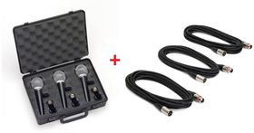 Samson R21S 3 Pack Microphone & Cable Combo