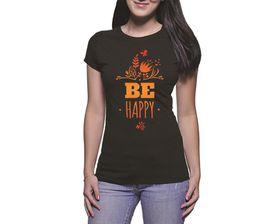 OTC Shop Be Happy Ladies T-Shirt - Black