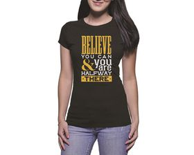 OTC Shop Believe You Can Ladies T-Shirt - Black