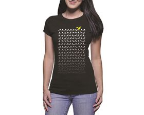 OTC Shop Birds Ladies T-Shirt - Black