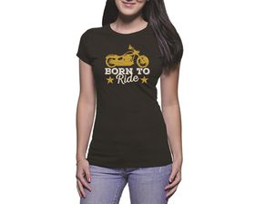 OTC Shop Born to Ride Ladies T-Shirt - Black