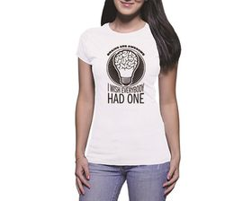 OTC Shop Brains Are Awesome Ladies T-Shirt - White