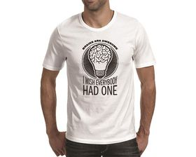 OTC Shop Brains Are Awesome Men's T-Shirt - White