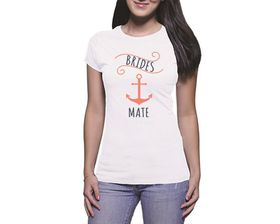 OTC Shop Brides Mate Anchor Ladies T-Shirt - White