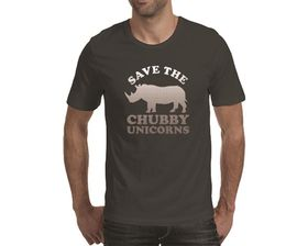 OTC Shop Chubby Unicorns Men's T-Shirt - Charcoal