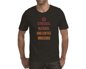 OTC Shop Coffee Obsessed Men's T-Shirt - Black