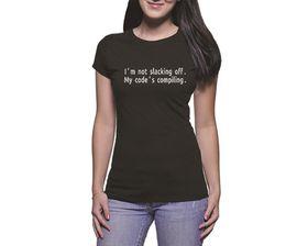 OTC Shop Compiling Ladies T-Shirt - Black