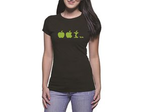 OTC Shop Demolished Fruit Ladies T-Shirt - Black