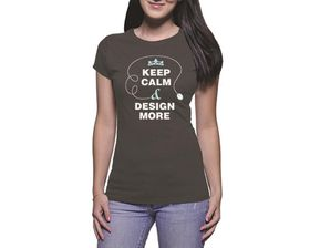 OTC Shop Design More Ladies T-Shirt - Charcoal