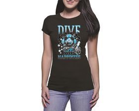 OTC Shop Dive Into Happiness Ladies T-Shirt - Black