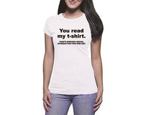 OTC Shop Enough Social Interaction Ladies T-Shirt - White