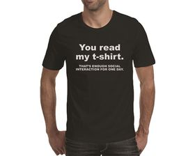 OTC Shop Enough Social Interaction Men's T-Shirt - Black