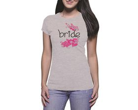 OTC Shop Flowering Bride Ladies T-Shirt - Grey Heather
