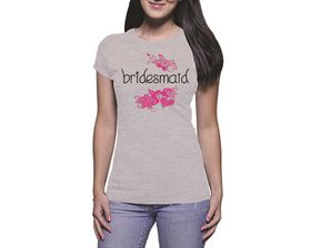 OTC Shop Flowering Bridesmaid Ladies T-Shirt - Grey Heather