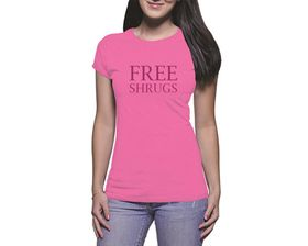 OTC Shop Free Shrugs Ladies T-Shirt - Fuchsia