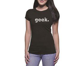 OTC Shop Geek Ladies T-Shirt - Black