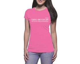 OTC Shop Geeks for Life Ladies T-Shirt - Fuchsia