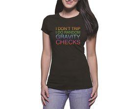 OTC Shop Gravity Checks Ladies T-Shirt - Black