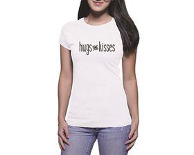 OTC Shop Hugs & Kisses Ladies T-Shirt - White