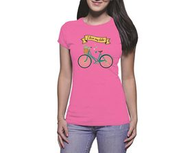 OTC Shop I Love My Bike Ladies T-Shirt - Fuchsia
