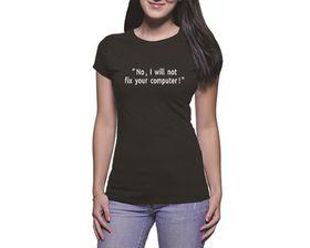 OTC Shop I Will Not Ladies T-Shirt - Black