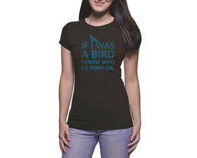 OTC Shop If I was a Bird Ladies T-Shirt - Black