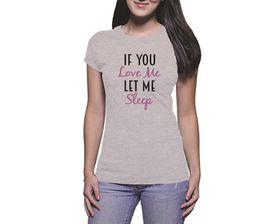 OTC Shop If You Love Me Ladies T-Shirt - Grey Heather